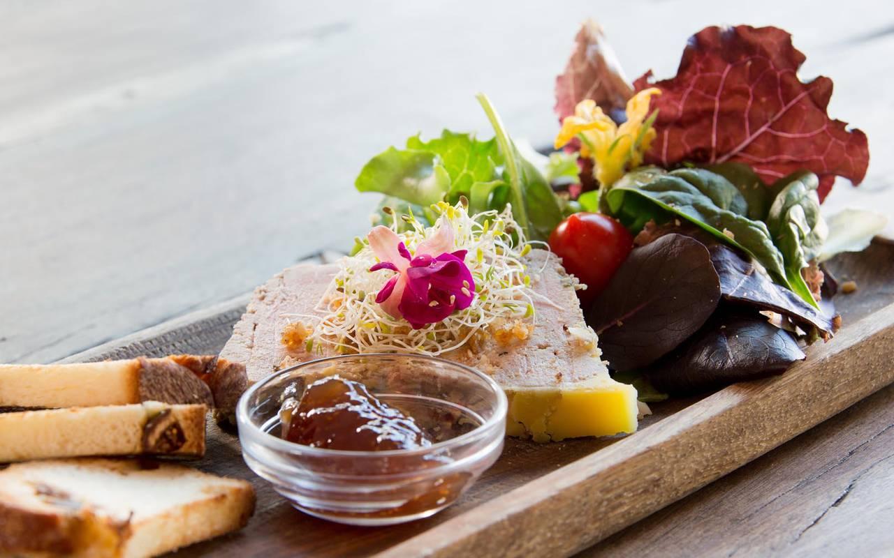 Appetizer foie gras hotel in camargue